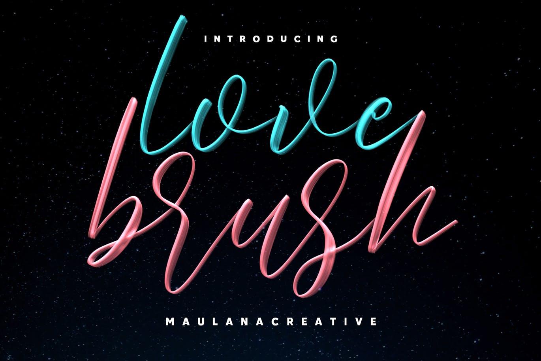 时尚高端简约流行风格的高品质手写字体Love Brush SVG英文字体设计素材模板