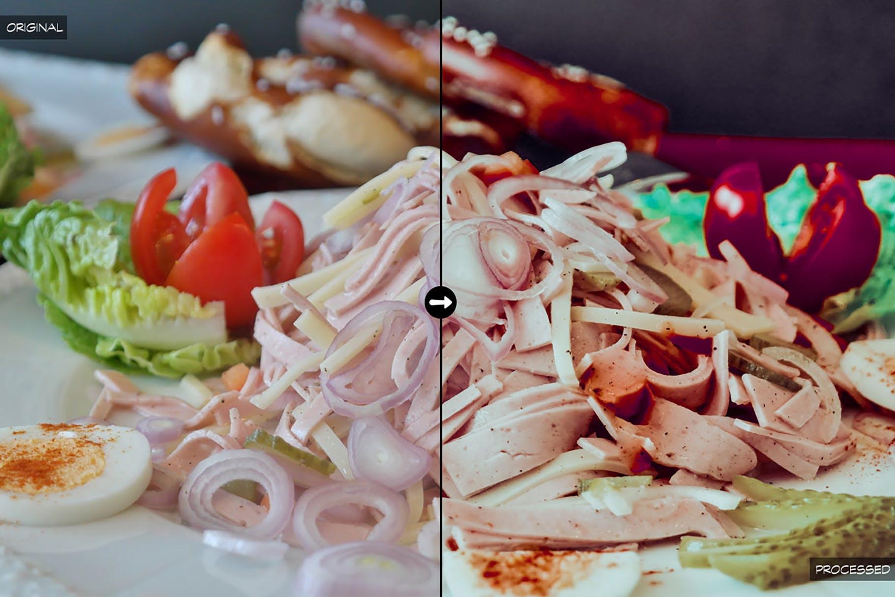 冷调美食景物照片lightroom滤镜lightroom预设下载设计素材模板