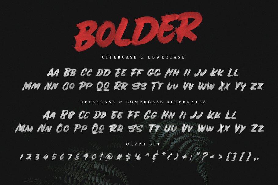 粗体笔刷字体 BOLDER – Smallcaps SVG Brush Font设计素材模板