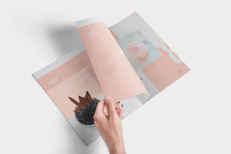 优雅实用的杂志或画册设计展示样机样机素材下载[PSD]