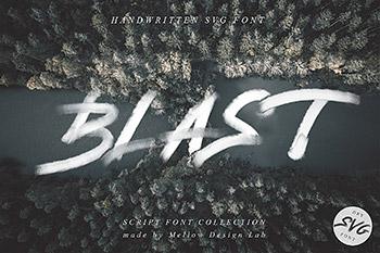 手写创意书法字体 Blast SVG Font