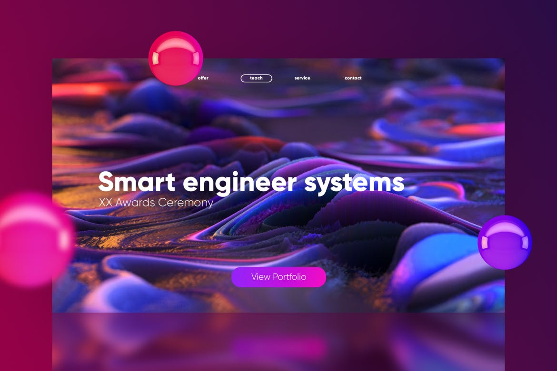 多彩抽象的未来科技感科技绚丽渐变banner背景图模板下载[PSD]设计素材模板