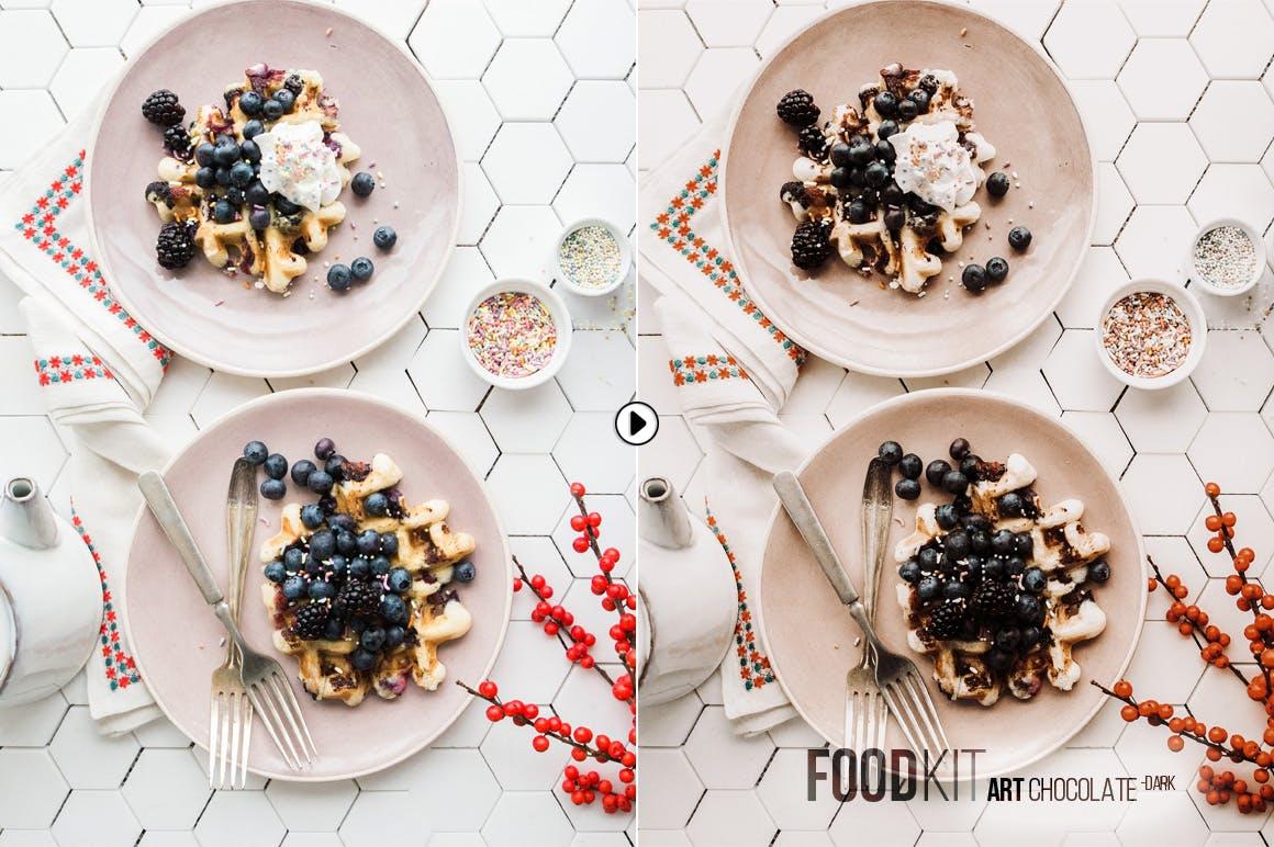 高端美食摄影lightroom预设下载lightroom滤镜设计素材模板
