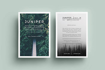 海报模板极简主义设计 J U N I P E R Flyer Template