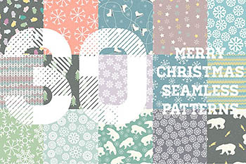 Winter Patterns Set Pro 冬季图案背景