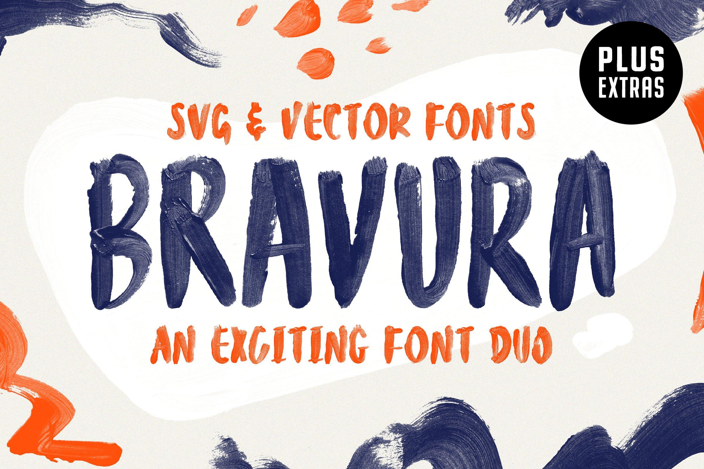 大胆的SVG字体 Bravura SVG Font Duo & Extras!设计素材模板