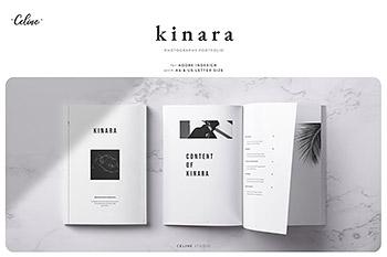 杂志画册模板KINARA时尚摄影作品集图册设计模板