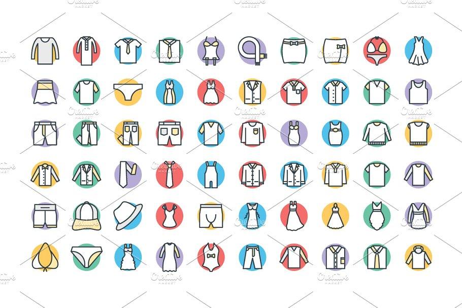 250+时尚和服装图标 250+ Fashion and Clothes Icons设计素材模板