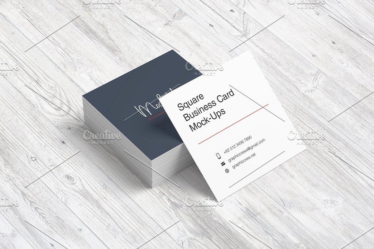 企业名片样机逼真商用方形公司形象模板设计素材模板
