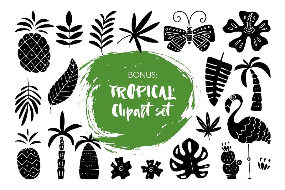 粗狂手绘笔刷字体 Haiti Organic Brush Font +Extras设计素材模板