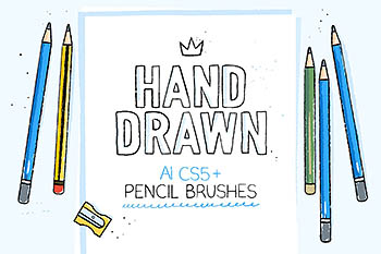 Ai手绘笔刷 Hand-drawn pencil AI brushes