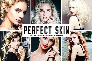 修图设计师必备超级美颜调色滤镜LR预设 Perfect Skin Mobile & Desktop Lightroom Presets