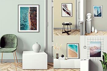 室内装饰艺术海报框架展示样机