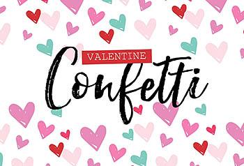 情人节爱心笔刷下载 Valentine Confetti Kit