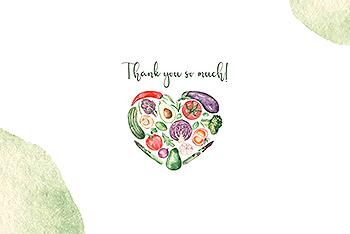 水彩手绘蔬菜&草药剪贴画素材包 Watercolor vegetables and herbs Collection clipart