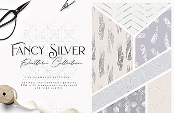 银色几何图案 Fancy Silver Patterns