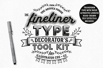 装饰笔刷工具包 Fineliner Type Decorator's Tool Kit