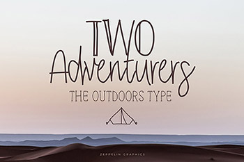 手写字体设计图案下载 Two Adventurers Font + Bonus