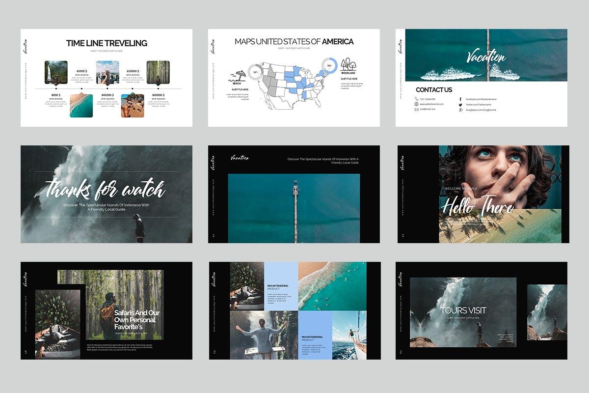 时尚排版的度假PPT模板下载 [PPTX]设计素材模板