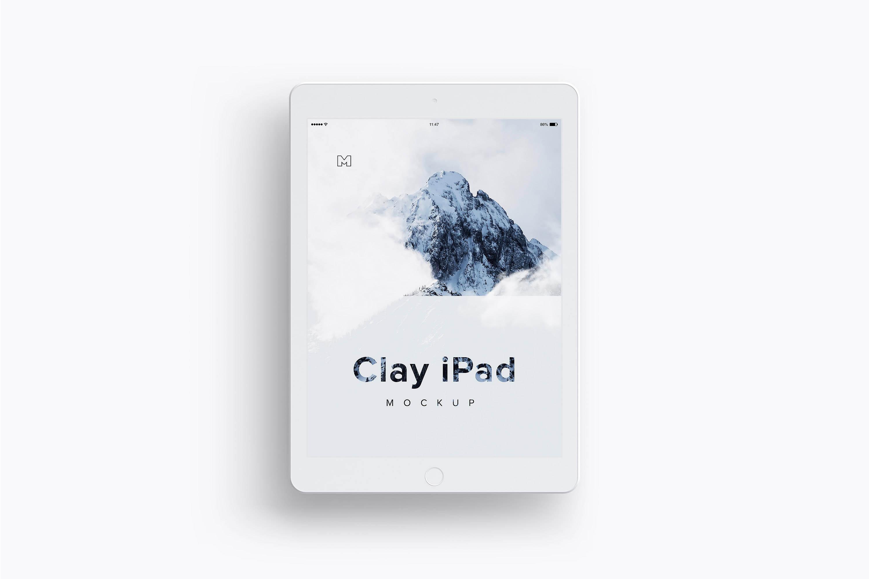 ipad平板样机素材 Clay iPad 9.7 Mockup 03
