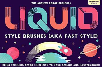 液体样式效果笔刷 Liquid Style Brushes