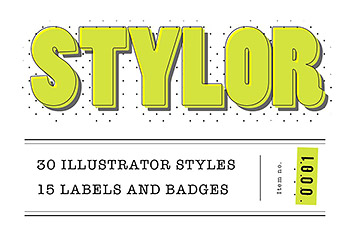 logo素材平面素材徽章模板 STYLOR – Styles, Labels & Badges No1