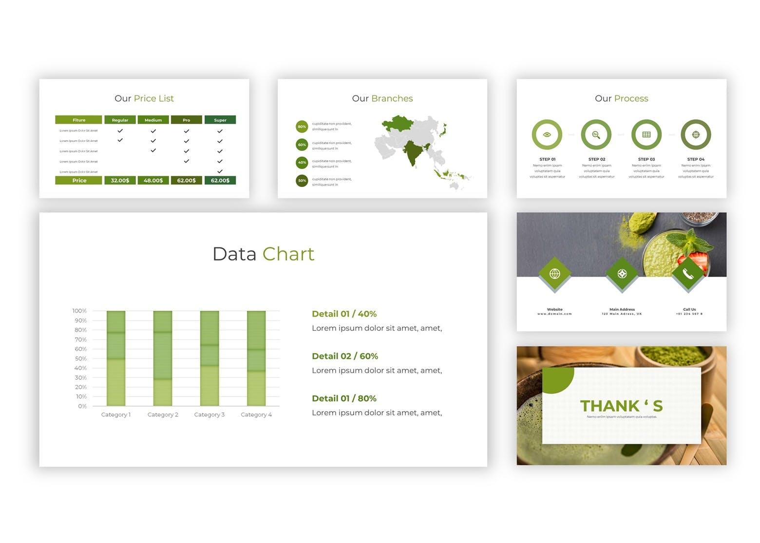精美ppt 绿色环保PPT模板 答辩ppt模板 模板设计素材模板