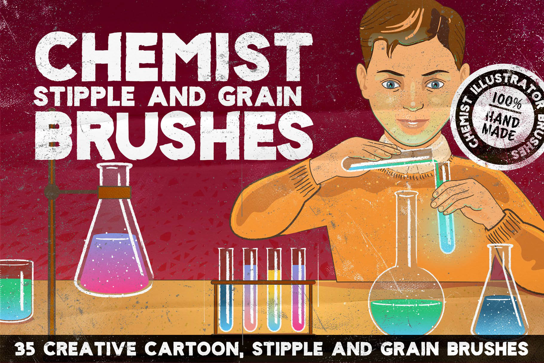 特别的Ai笔刷 CHEMIST Illustrator Brushes