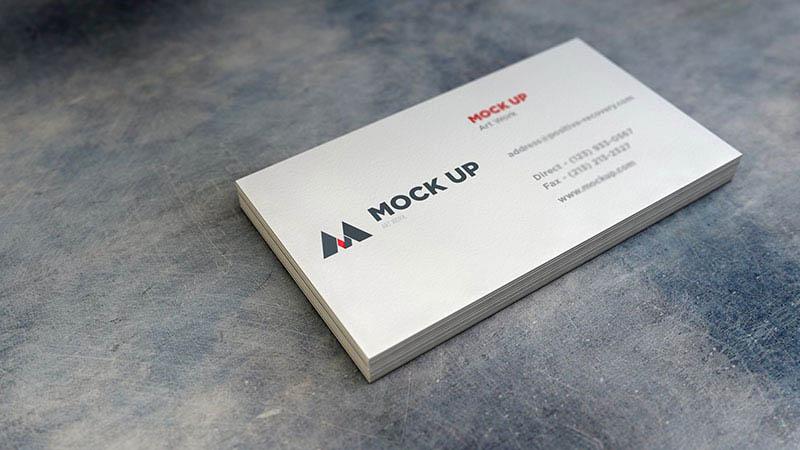 超写实的商业名片设计展示模型样机psd下载