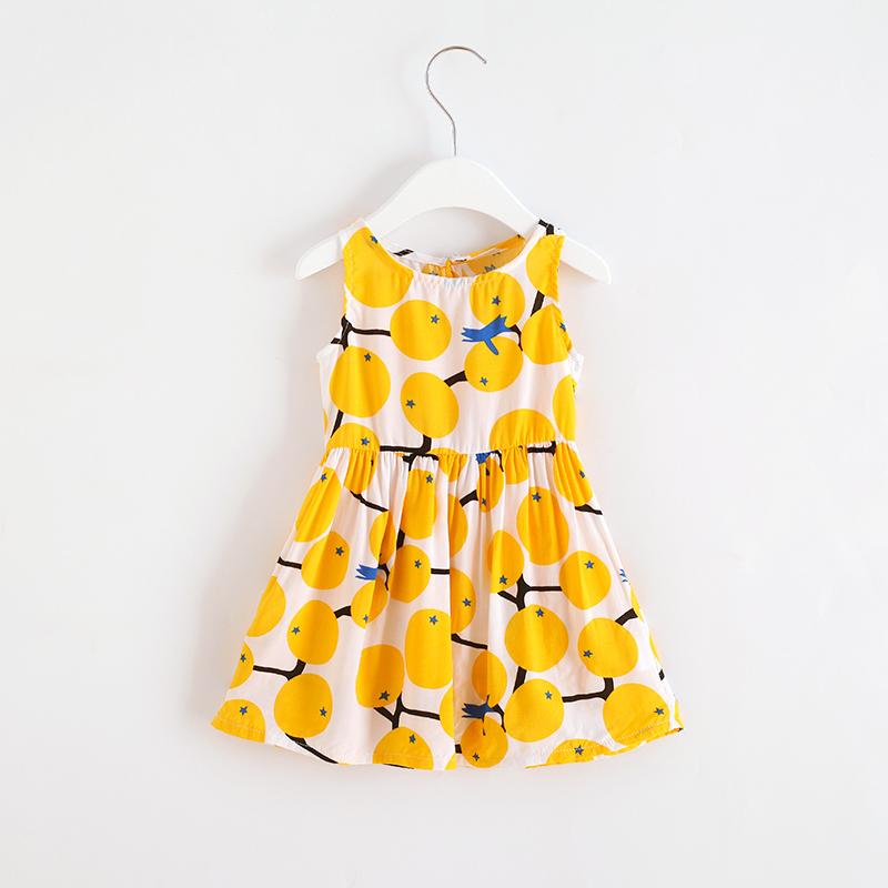 2019新款韩版洋气儿童夏装宝宝公主裙绵绸童装女童连衣裙棉绸裙子