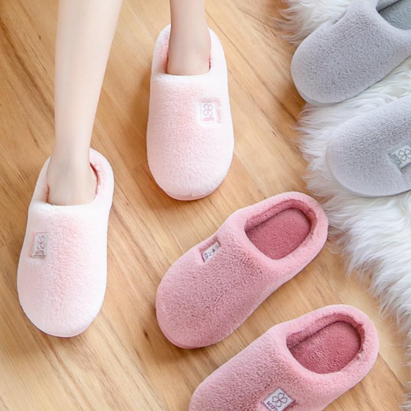 秋冬季棉拖鞋女2018新款室内家居情侣居家用厚底包跟毛绒男士冬天