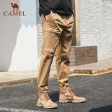 骆驼男装休闲裤男宽松直筒工装长裤劵后79元包邮