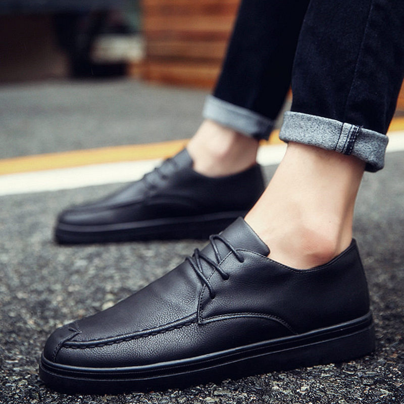 Men's Casual Shoes Summer New Men Shoes One-legged Shoes British Fashion Trend Embroidery Casual Shoes Men's Shoes