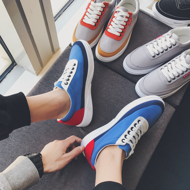 @ два больше оригинал новая весна модель движение обувь casual мужской мода низкий обувной корейский обувь тенденция мужская обувь сын