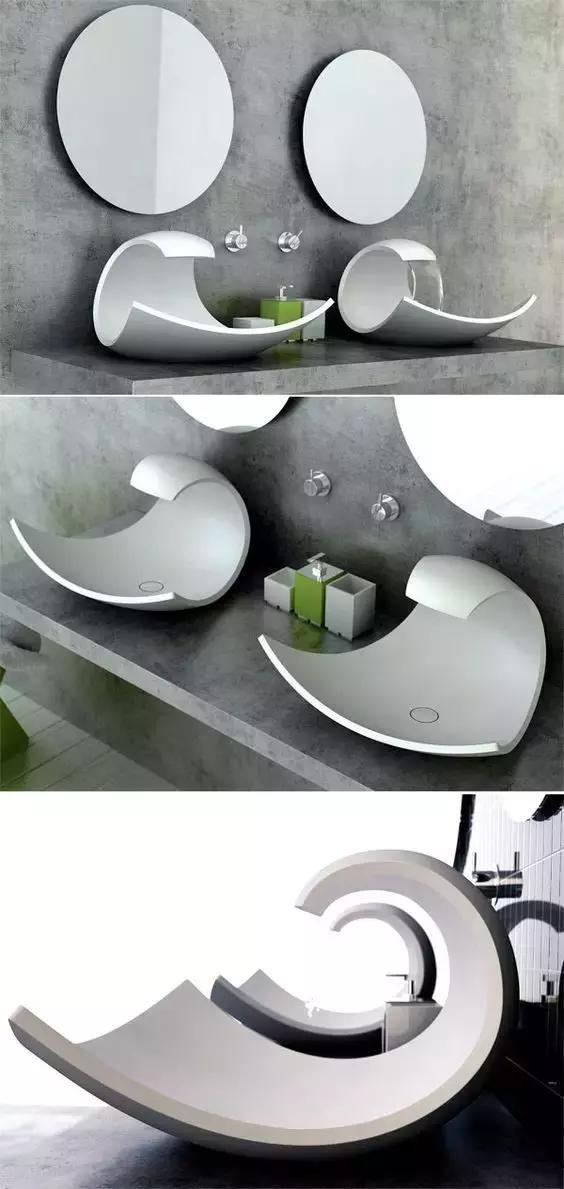 洗手盆这样设计,既人性又高端