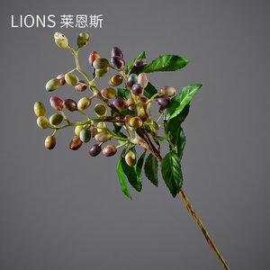 客厅假花仿真花摆件轻奢美式北欧仿真花红果浆果仿真花果子红浆果