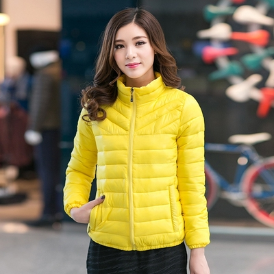 2017 autumn and winter new Korean down padded large size women fat mm slim slim coat thin 200 pounds