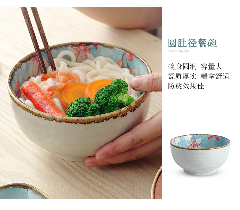 The dishes suit household to eat bread and butter plate free combination Japanese contracted noodles soup bowl jingdezhen ceramics tableware