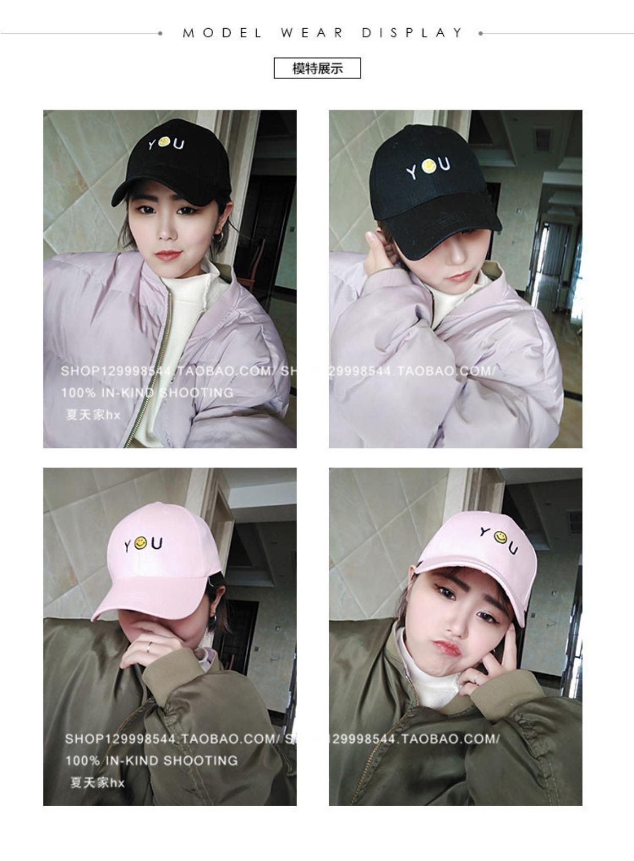 Color : Gray Baseball Cap Female Summer Korean Version of Wild Hipsters Harajuku Style Hat Hip Hop Street Boys Ulzzang Cap