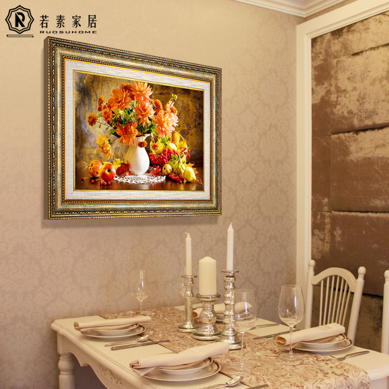 Restaurant Wall Decoration Painting European Single Wall Painting Fruit  Painting American Dining Room Kitchen Horizontal Mural