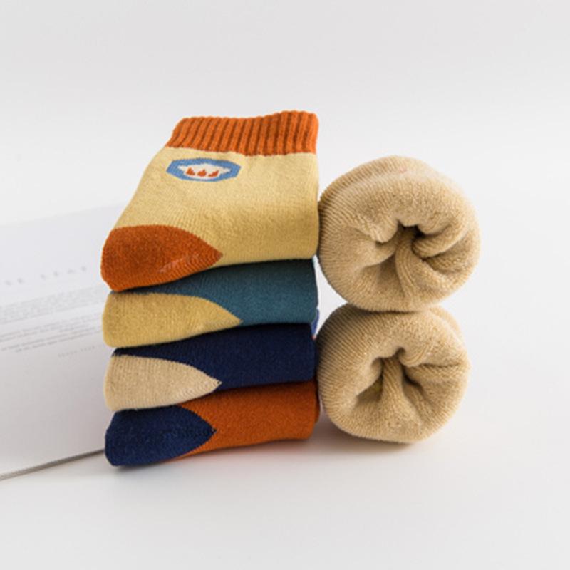【超值5双】儿童纯棉加绒毛圈袜
