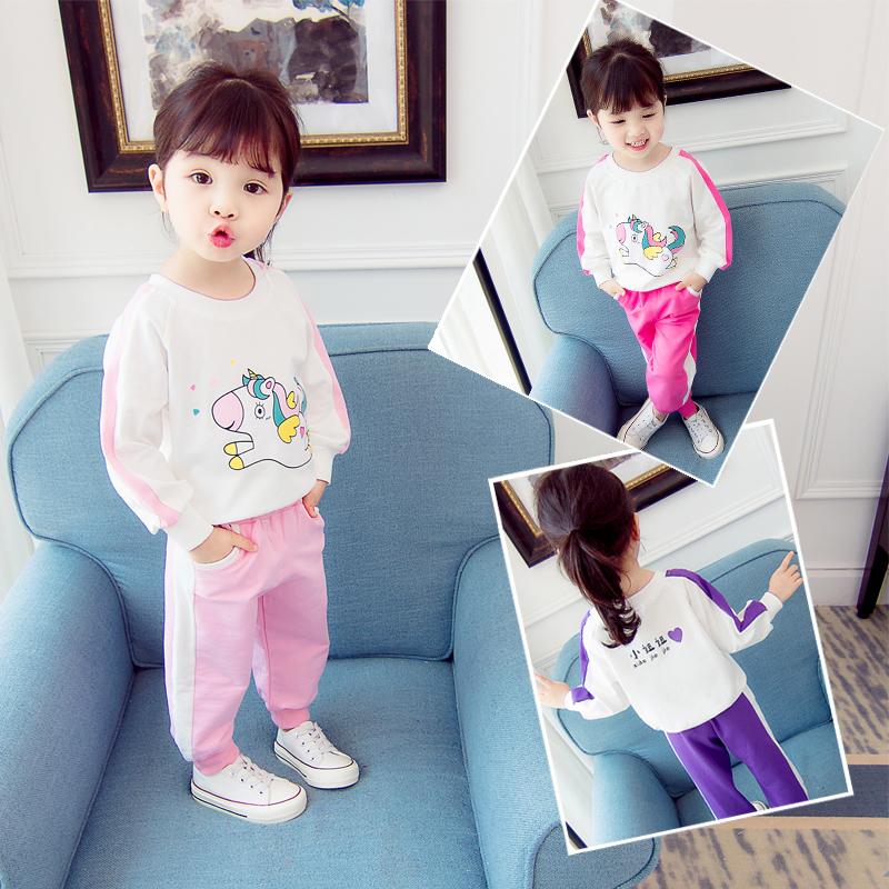 儿童套装时尚衣服宝宝1-2-3岁女婴幼春装潮女童春秋洋气秋季秋装