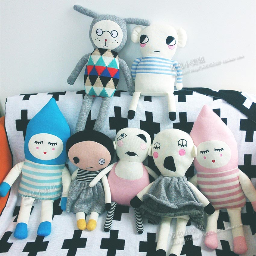 ins ugly doll Denmark luck * the same paragraph creative toys to accompany sleeping doll knitting doll photo props