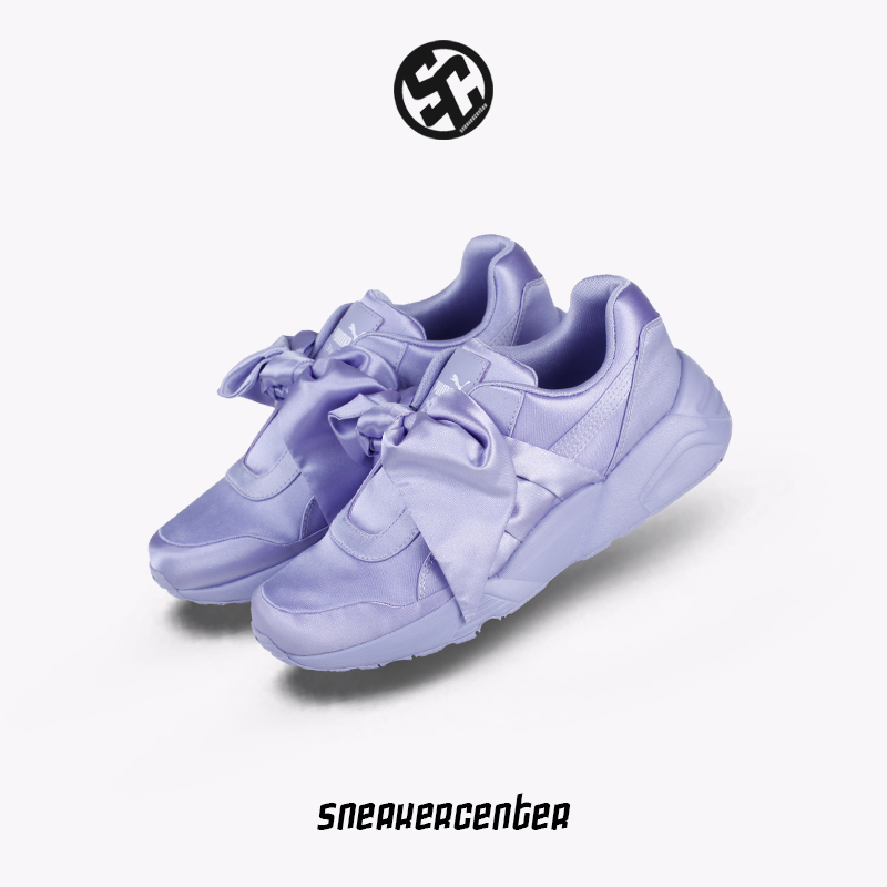 eb8f36d84354ae Puma x Fenty Bow Sneaker Rihanna bowknot women s shoes purple running shoes  365054-03