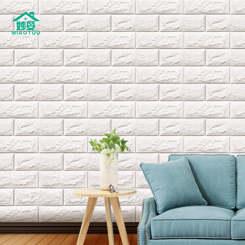 Wallpaper self-adhesive bedroom 3d stereo wall stickers warm wallpaper brick background wall anti-collision waterproof moisture-proof decorative stickers