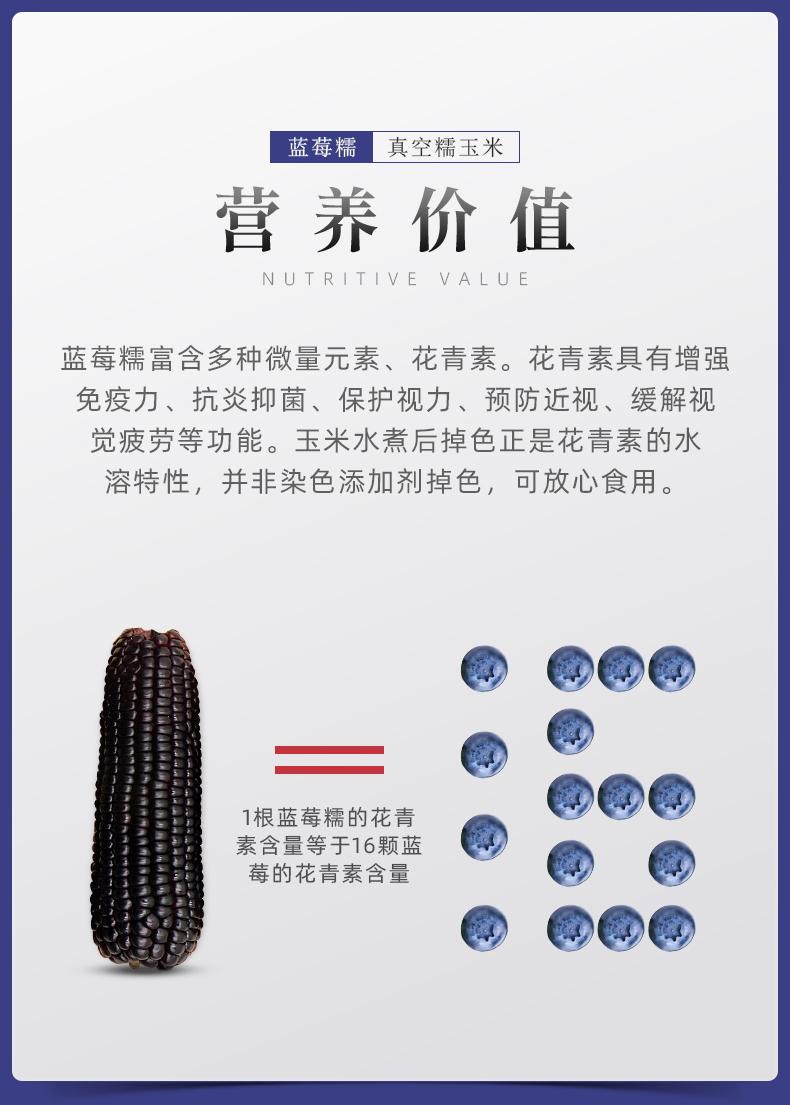 昊伟农庄 非转基因蓝莓糯玉米棒 200g*10根 真空包装 图3