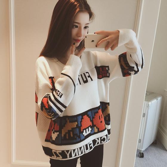 Mùa thu 2020 áo len len bảo hiểm rủi ro áo len nữ mùa xuân Hàn Quốc và mùa thu giải trí giữa áo len dài - Áo / áo thun