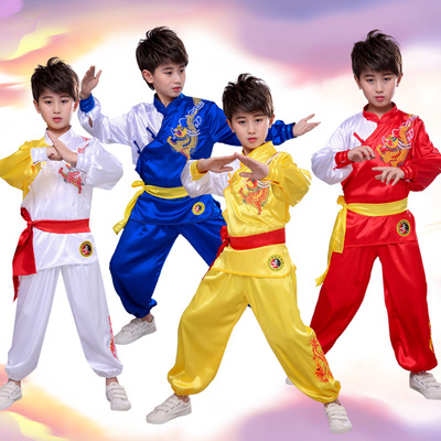Boys Martial arts Kungfu & Tai-Chi Uniforms for Girls Children martial arts costume performance costume primary school student Chinese martial arts training Costume