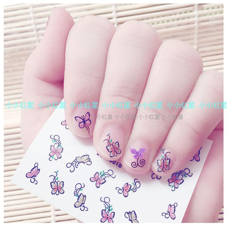Childrens Nail Stickers Gold Butterfly Nail Art Stickers Cute 3d