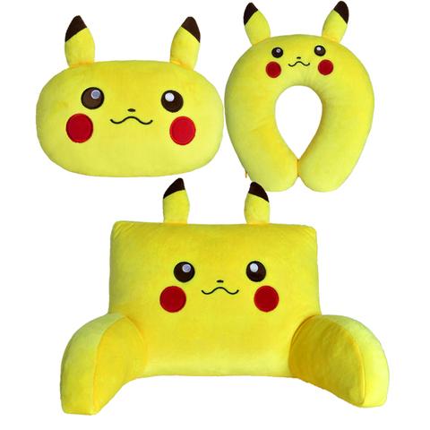 黄色卡通汽车头枕车用靠枕颈枕护颈枕一对车枕座椅腰靠靠垫可爱枕
